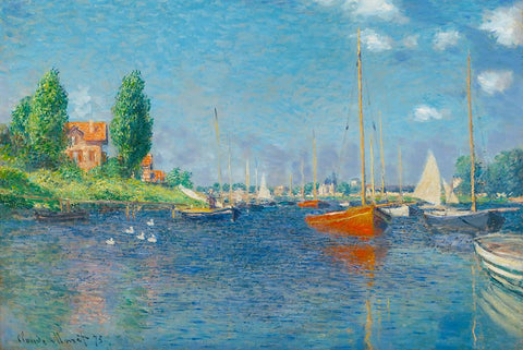 Red Boats by Monet - Peaceful Wooden Jigsaw Puzzles