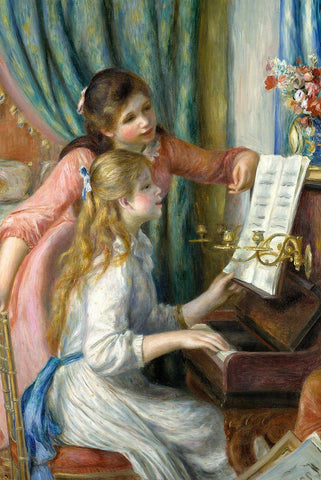 Two Young Girls at the Piano by Renoir - Wooden Jigsaw Puzzles for Adults