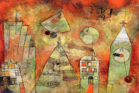 Fateful Hour at Quarter to Twelve by Paul Klee Wooden Jigsaw Puzzle