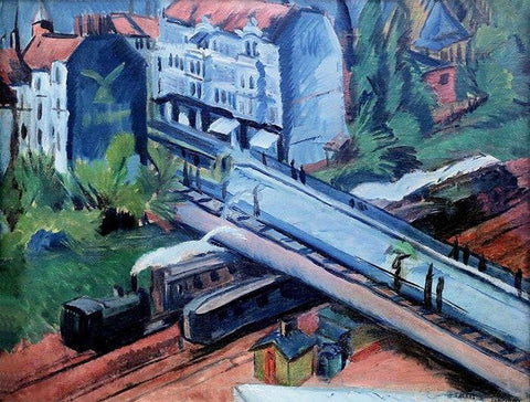 The Railroad Viaduct by Ernst Ludwig Kirchner - Wooden Jigsaw Puzzles for Adults