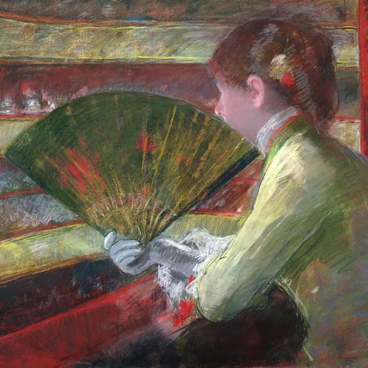 In the Loge by Mary Cassatt - Peaceful Wooden Puzzles