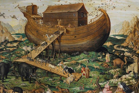 Noah's Ark On Mount Ararat by Simon de Myle - Peaceful Wooden Jigsaw Puzzles