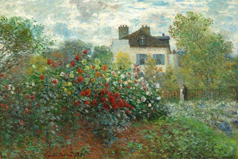The Artist's Garden in Argenteuil by Monet - Wooden Jigsaw Puzzles for Adults