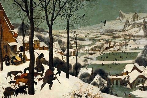 Hunters in the Snow by Pieter Bruegel the Elder - Peaceful Wooden Puzzles