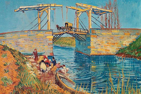 Drawbridge at Arles by Van Gogh - Peaceful Wooden Jigsaw Puzzles