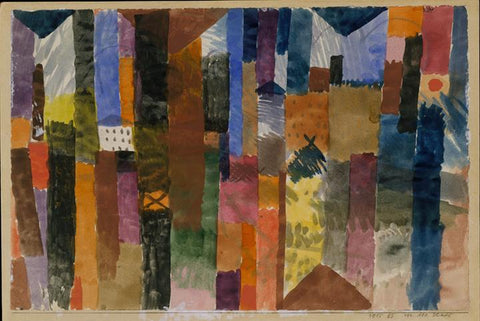 Before the Town by Paul Klee - Peaceful Wooden Jigsaw Puzzles