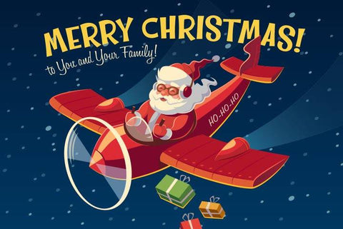 Santa's Airplane - Wooden Jigsaw Puzzles for Adults