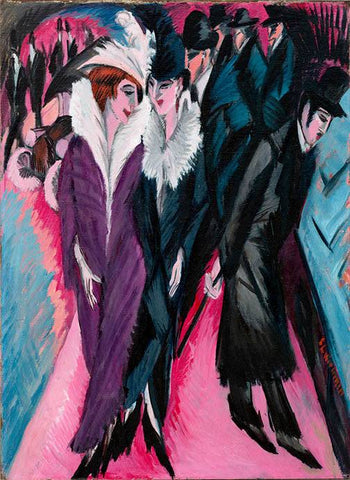 Street, Berlin by Ernst Ludwig Kirchner - Wooden Jigsaw Puzzles for Adults