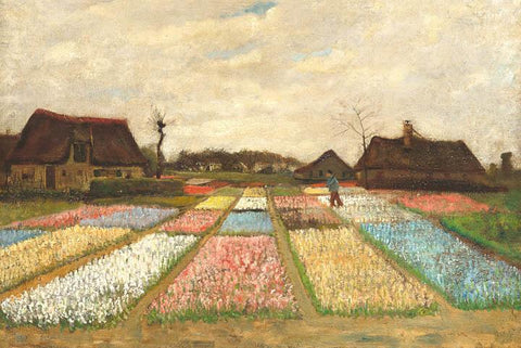 Flower Beds in Holland by Van Gogh - Wooden Jigsaw Puzzles for Adults