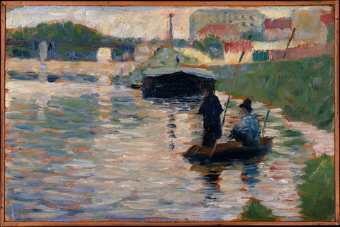 View of the Seine by Georges-Pierre Seurat - Wooden Jigsaw Puzzles for Adults