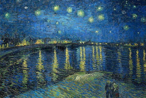 Starry Night Over the Rhone by Van Gogh Peaceful Wooden Puzzles
