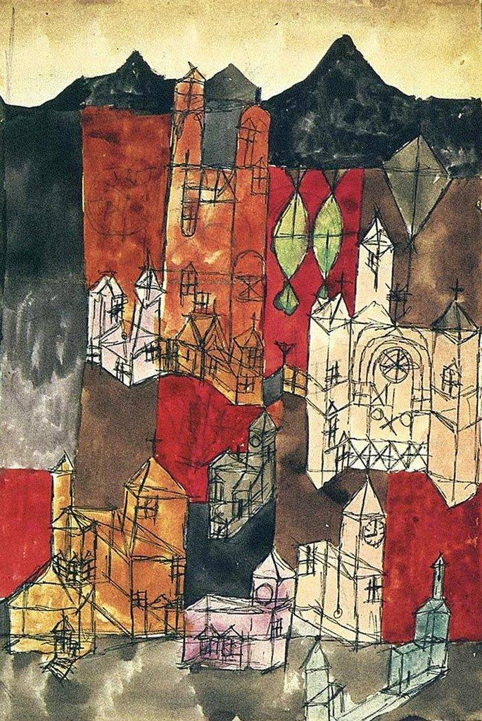 City of Churches by Paul Klee Wooden Jigsaw Puzzle