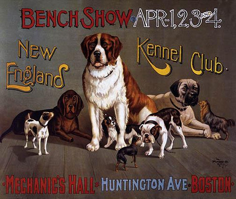 New England Dog Kennel Club Vintage Poster