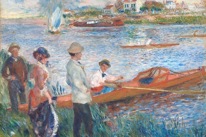Oarsmen at Chatou by Renoir