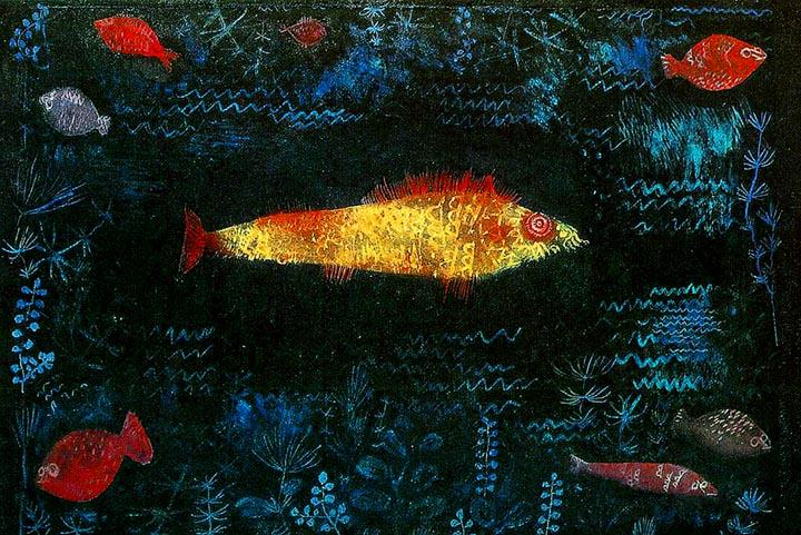 The Golden Fish by Paul Klee Wooden Jigsaw Puzzle