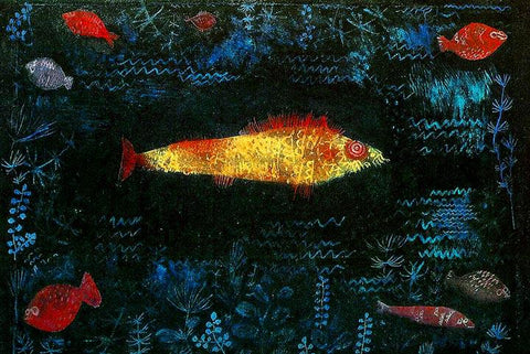 The Golden Fish by Paul Klee - Wooden Jigsaw Puzzles for Adults