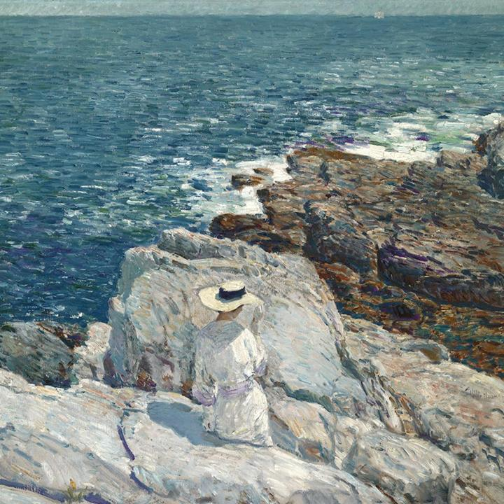 The South Ledges, Appledore by Childe Hassam - Peaceful Wooden Puzzles