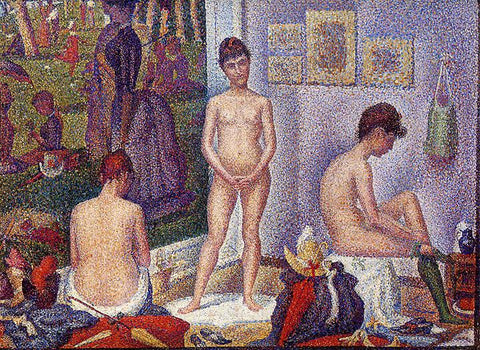 The Models by Georges-Pierre Seurat - Peaceful Wooden Jigsaw Puzzles