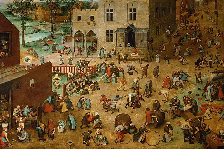 Childrens' Games by Pieter Bruegel the Elder - Wooden Jigsaw Puzzles for Adults