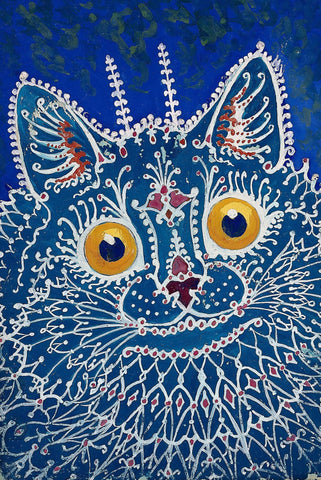A Cat in Gothic Style by Louis Wain - Peaceful Wooden Jigsaw Puzzles