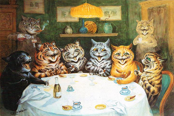 Party Cats by Louis Wain