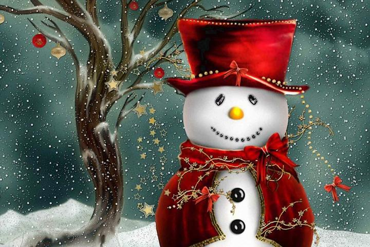 Happy Christmas Snowman - Wooden Jigsaw Puzzles for Adults