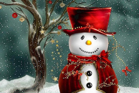 Happy Christmas Snowman - Peaceful Wooden Jigsaw Puzzles