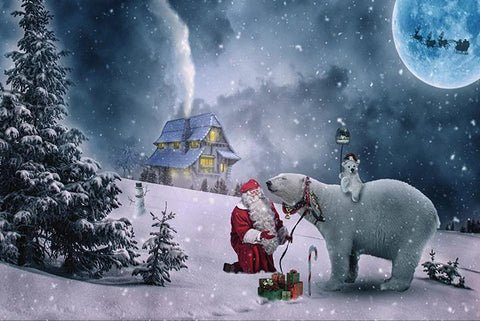 Santa and the Polar Bears - Wooden Jigsaw Puzzles for Adults