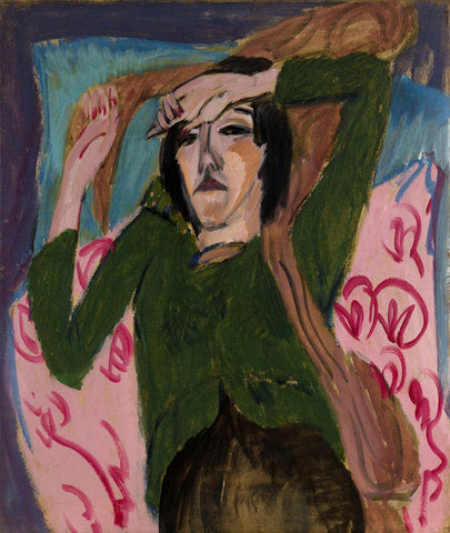 Woman in a Green Jacket by Ernst Ludwig Kirchner - Wooden Jigsaw Puzzles for Adults