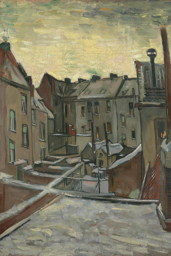 Houses Seen from the Back by Van Gogh - Peaceful Wooden Puzzles