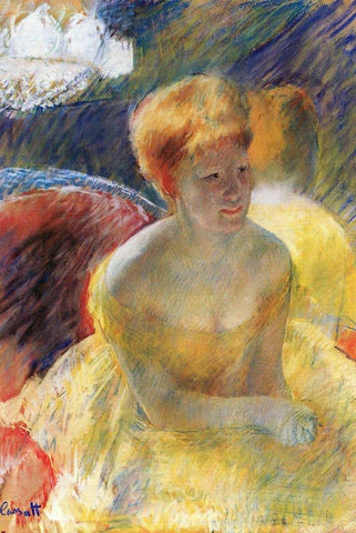 At the Theatre by Mary Cassatt