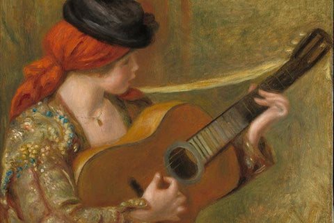 Young Spanish Woman with a Guitar by Renoir - Wooden Jigsaw Puzzles for Adults