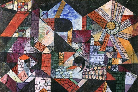 City of R by Paul Klee - Peaceful Wooden Puzzles