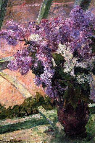 Lilacs in the Window by Mary Cassatt - Wooden Jigsaw Puzzles for Adults
