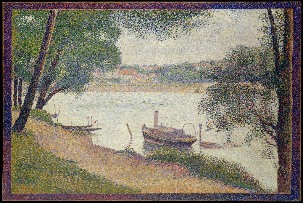 Gray Weather by Georges-Pierre Seurat - Peaceful Wooden Puzzles