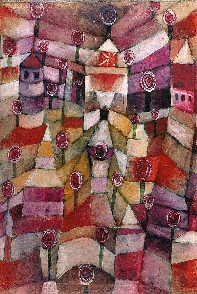 Rose Garden by Paul Klee Wooden Jigsaw Puzzle