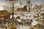 The Census at Bethlehem by Pieter Bruegel the Elder - Wooden Jigsaw Puzzles for Adults