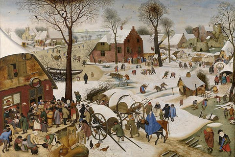 The Census at Bethlehem by Pieter Bruegel the Elder - Peaceful Wooden Jigsaw Puzzles