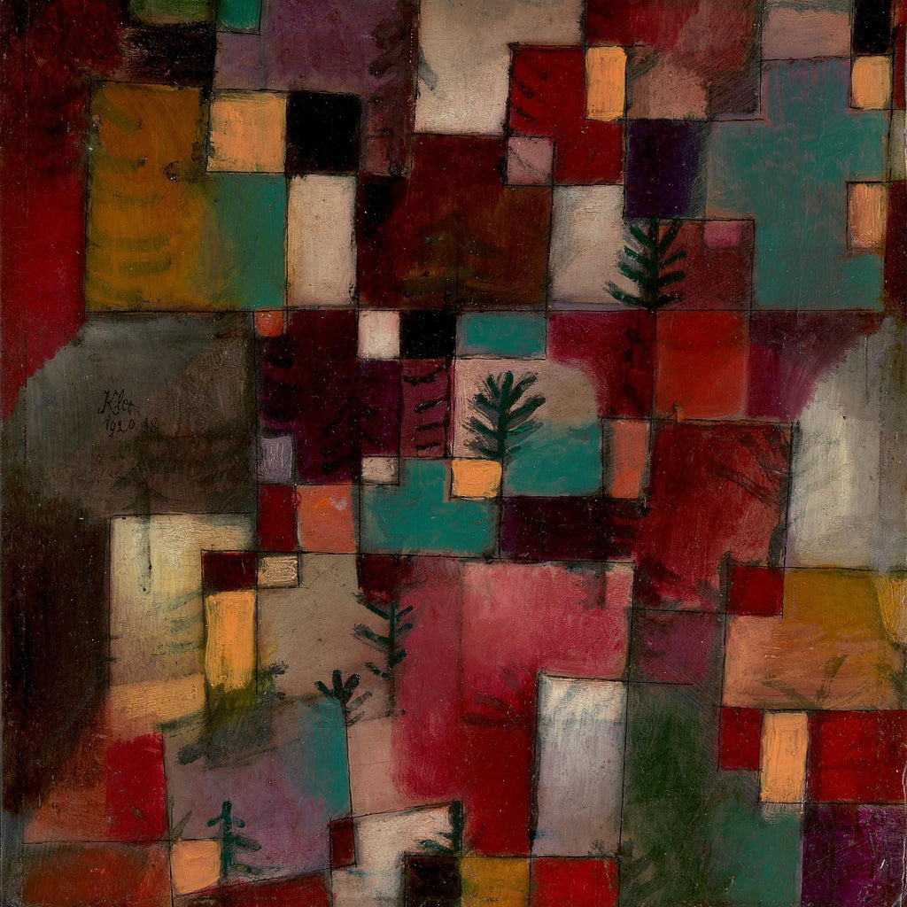 Redgreen and Violet-Yellow Rhythms by Paul Klee - Peaceful Wooden Puzzles