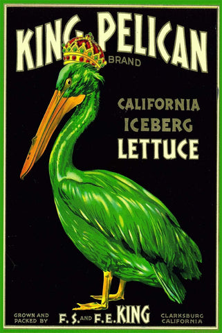King Pelican California Iceberg Lettuce Advertisement - Wooden Jigsaw Puzzles for Adults
