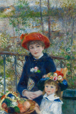 Two Sisters On the Terrace by Renoir - Peaceful Wooden Puzzles