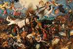 The Fall of the Rebel Angels by Pieter Bruegel the Elder - Wooden Jigsaw Puzzles for Adults