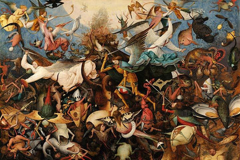 The Fall of the Rebel Angels by Pieter Bruegel the Elder - Peaceful Wooden Jigsaw Puzzles