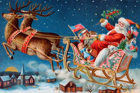 Santa's Flying Sleigh - Wooden Jigsaw Puzzles for Adults