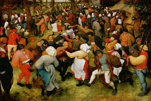 Peasant Wedding by Pieter Bruegel the Elder - Wooden Jigsaw Puzzles for Adults