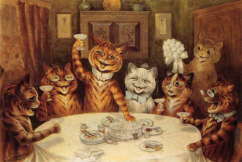 Wedding Breakfast by Louis Wain - Peaceful Wooden Jigsaw Puzzles