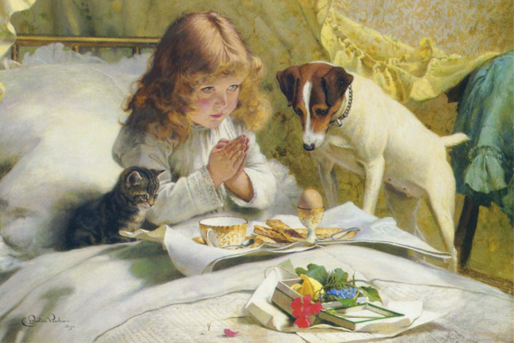 Suspense by Charles Burton Barber 1894 Peaceful Wooden Puzzles