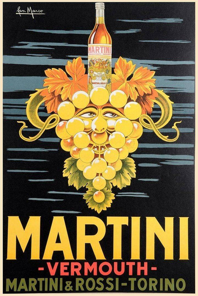 Vintage Martini Vermouth Poster - Peaceful Wooden Puzzles