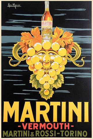 Vintage Martini Vermouth Poster - Wooden Jigsaw Puzzles for Adults
