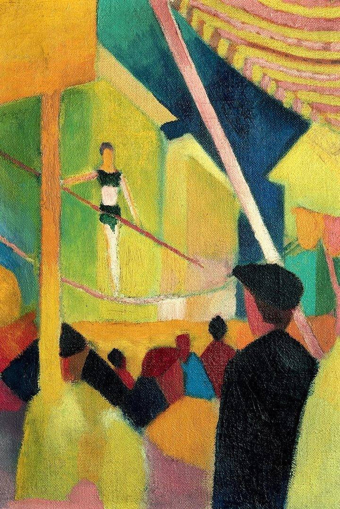 Tightrope Walker by August Macke - Wooden Jigsaw Puzzles for Adults